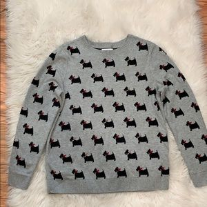 Charter Club Scottish Terrier Dog Sweater, Size S